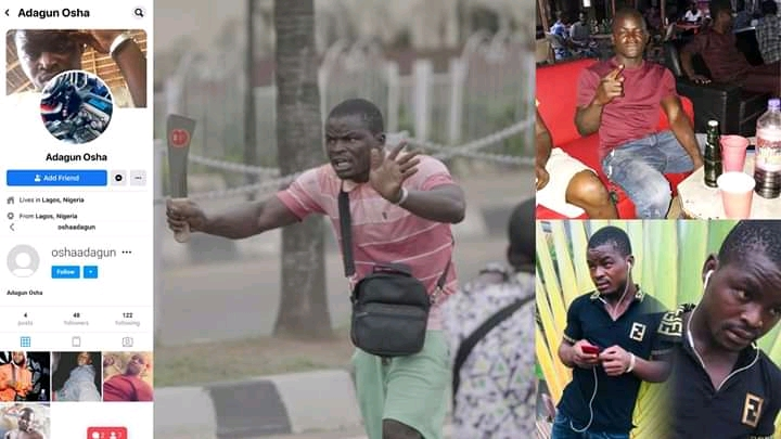 Nigerians Identify One Among Thug Who Attacked Lagos Protesters, Call For His Arrest