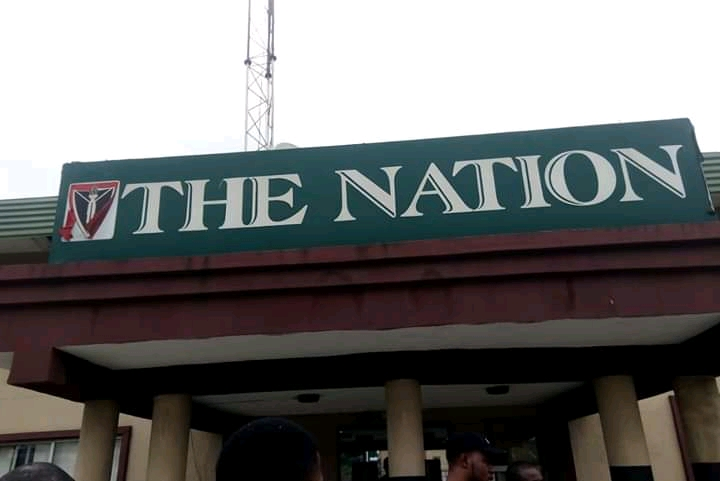 Angry Nigerians Set Ablaze Nation Newspaper Head Office In Lagos