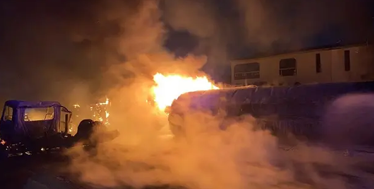 Petrol tanker catches fire near Ogun Governor's Office