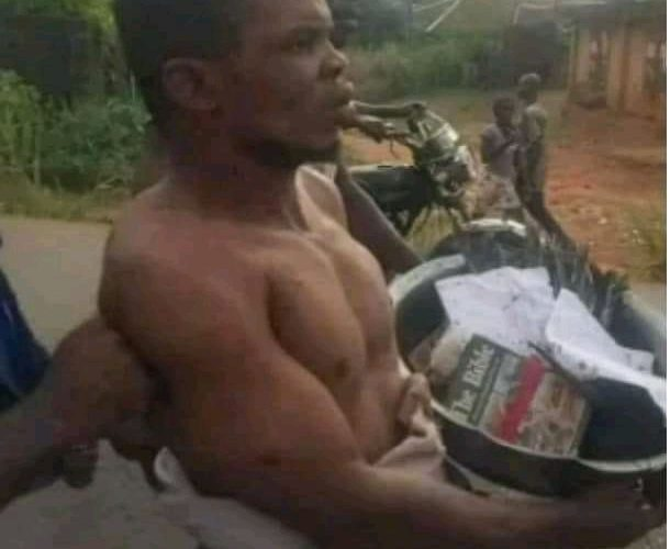 Pastor stripped, paraded, after he was allegedly caught with charms in Anambra