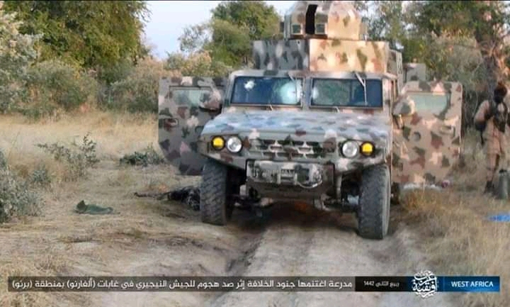ISWAP Captures Newly Inducted Nigerian Army Armoured Vehicle