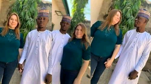 Photonews: 46-Year-Old American Mum Arrives Nigeria To Marry 23-Year-Old Kano Indigene