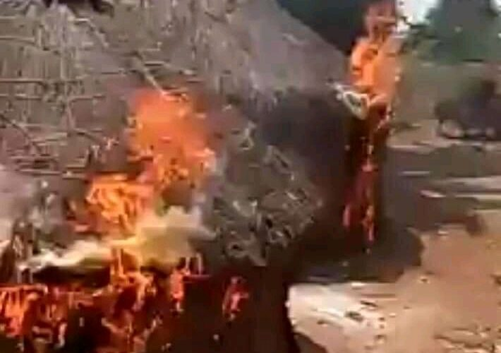 Just In : ESN Sets Fulani Settlement In Ebonyi State On Fire