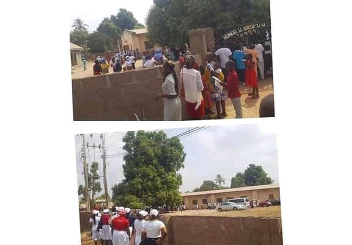 Serious Drama As Members Drive Pastor Out Of Church In Benue, Lock Him Out for Preaching Strange Doctrine