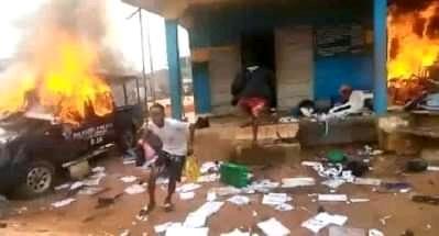 BREAKING: Gunmen raze another Imo police station