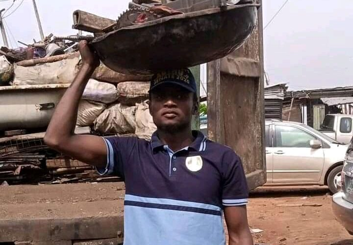Meet Katsina Man With MSc Degree Who Opted For Metal Scraps Trading, Scavenging In Lagos