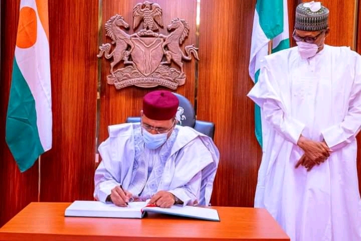 Buhari Receives Newly Sworn-In Niger President, Mohamed Bazoum At The State House In Abuja