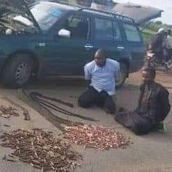 PhotoNews: Fulani Men Caught On Their Way To Zamfara Forest With Ammunition